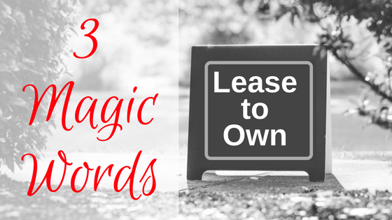 3 Magic Words (And Other Steps to Profiting with a Lease Option)