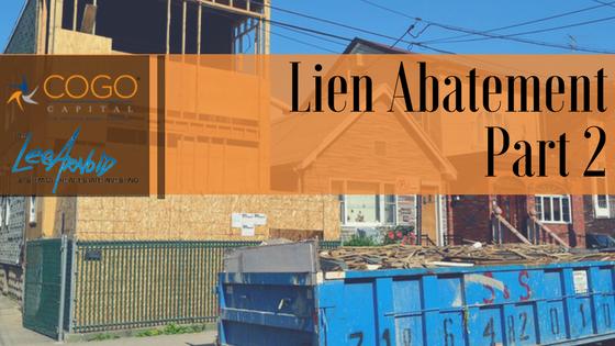 Lien Abatement: Part 2