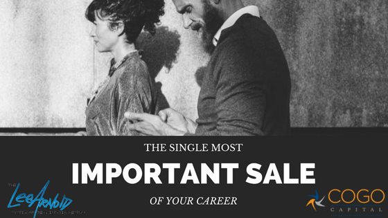 The Single Most Important Sale of Your Career