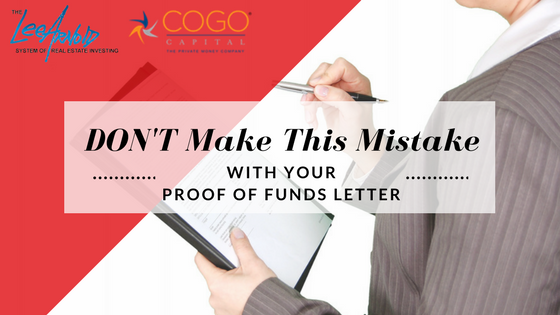 Don't Make This Mistake (with Your Proof of Funds Letter)